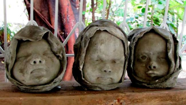 Stone sculptures at Artist's Haven in Luneta Park